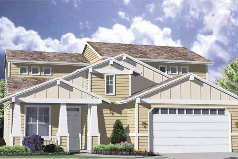 Craftsman Exterior - Front Elevation Plan #509-170