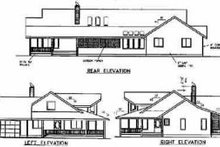 House Plan Design - Country Exterior - Rear Elevation Plan #60-265