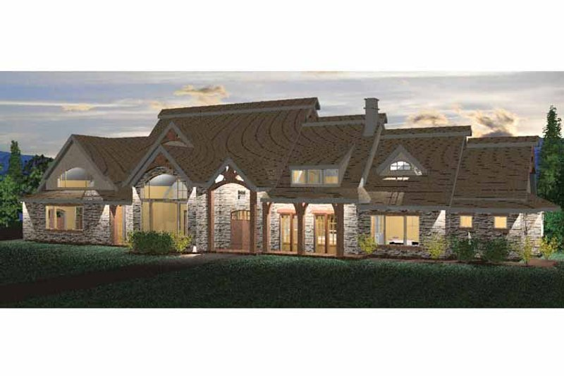 Architectural House Design - European Exterior - Front Elevation Plan #937-21
