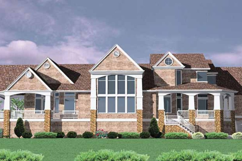 Traditional Exterior - Rear Elevation Plan #509-401 - Houseplans.com