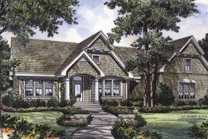 Dream House Plan - Craftsman Exterior - Front Elevation Plan #417-672