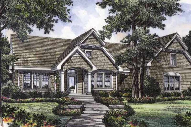 Craftsman Exterior - Front Elevation Plan #417-672