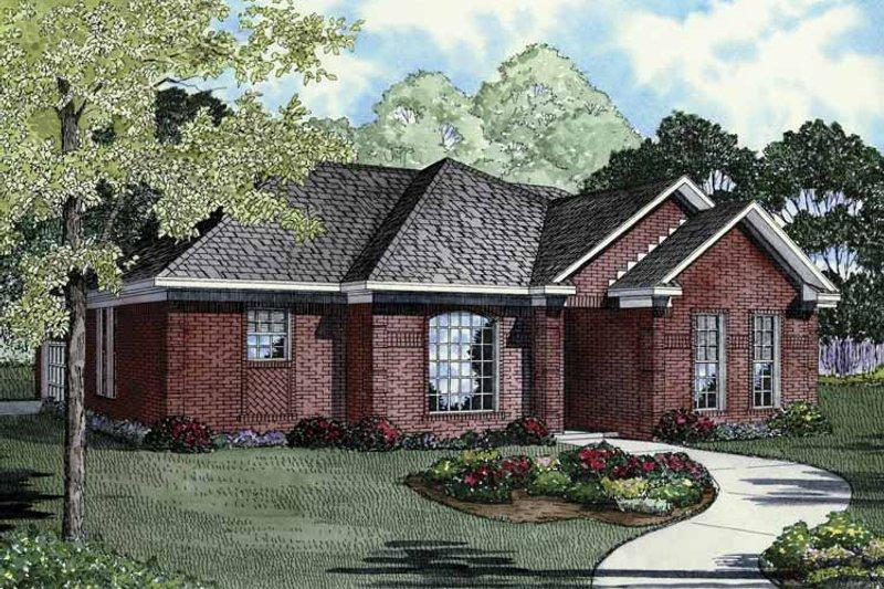 Ranch Exterior - Front Elevation Plan #17-3258 - Houseplans.com