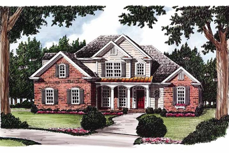 Country Exterior - Front Elevation Plan #927-613