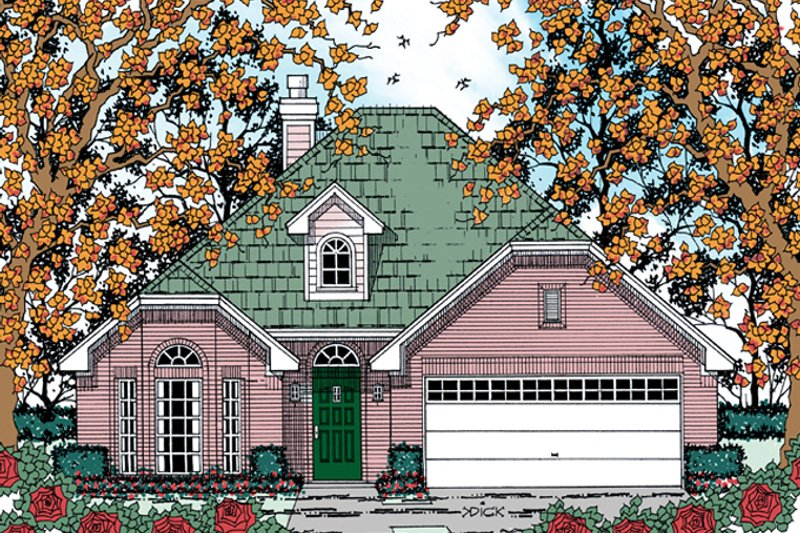 Traditional Exterior - Front Elevation Plan #42-721 - Houseplans.com