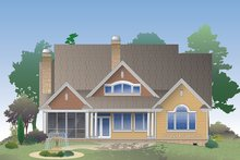 Dream House Plan - Traditional Exterior - Rear Elevation Plan #929-1014