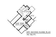 Craftsman Floor Plan - Upper Floor Plan Plan #54-415