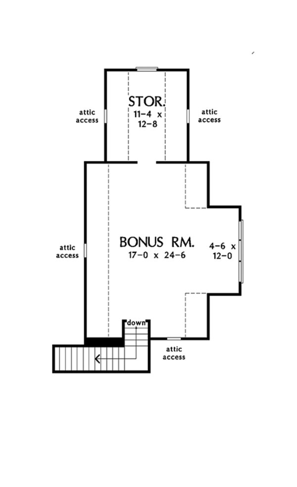 Ranch Floor Plan - Other Floor Plan Plan #929-1019