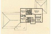 Prairie Style House Plan - 3 Beds 2.5 Baths 2100 Sq/Ft Plan #454-4 Floor Plan - Upper Floor