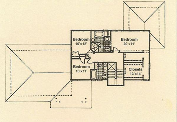 Prairie Floor Plan - Upper Floor Plan Plan #454-4