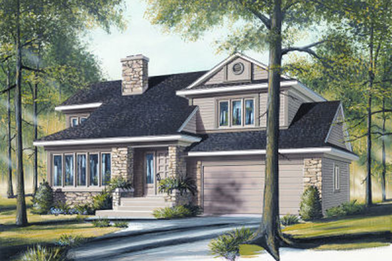 Traditional Exterior - Front Elevation Plan #23-712 - Houseplans.com