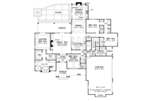 Ranch Floor Plan - Main Floor Plan Plan #929-1005