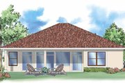 Mediterranean Style House Plan - 3 Beds 2 Baths 2010 Sq/Ft Plan #930-389 Exterior - Rear Elevation