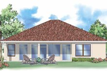 Mediterranean Exterior - Rear Elevation Plan #930-389