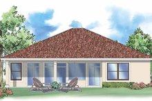House Plan Design - Mediterranean Exterior - Rear Elevation Plan #930-389
