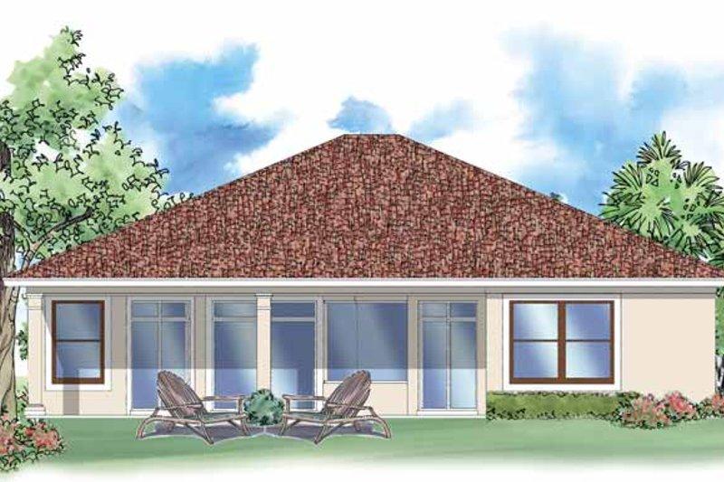 Mediterranean Exterior - Rear Elevation Plan #930-389 - Houseplans.com