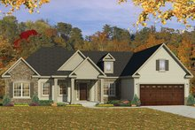 Ranch Exterior - Front Elevation Plan #1010-151