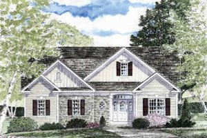 Craftsman Exterior - Front Elevation Plan #316-263