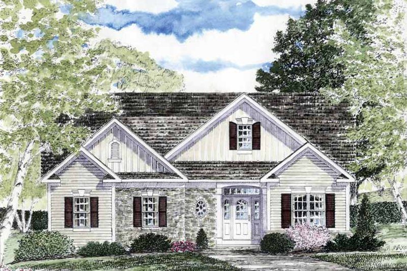 Home Plan - Craftsman Exterior - Front Elevation Plan #316-263