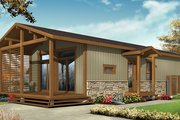 Contemporary Style House Plan - 2 Beds 1 Baths 700 Sq/Ft Plan #23-2603 Exterior - Front Elevation