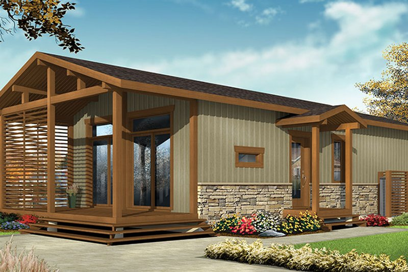 Contemporary Style House Plan 2 Beds 1 Baths 700 Sq Ft
