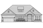 Ranch Style House Plan - 3 Beds 2.5 Baths 1894 Sq/Ft Plan #46-882 Exterior - Front Elevation