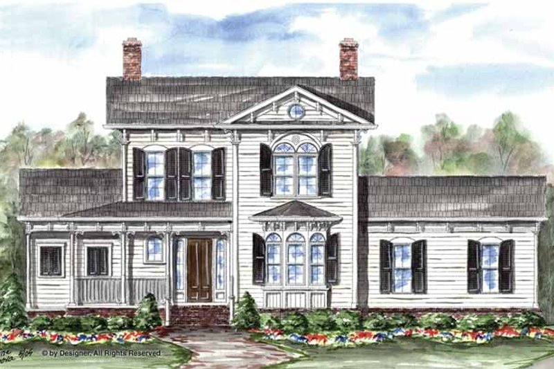 Victorian Exterior - Front Elevation Plan #54-325
