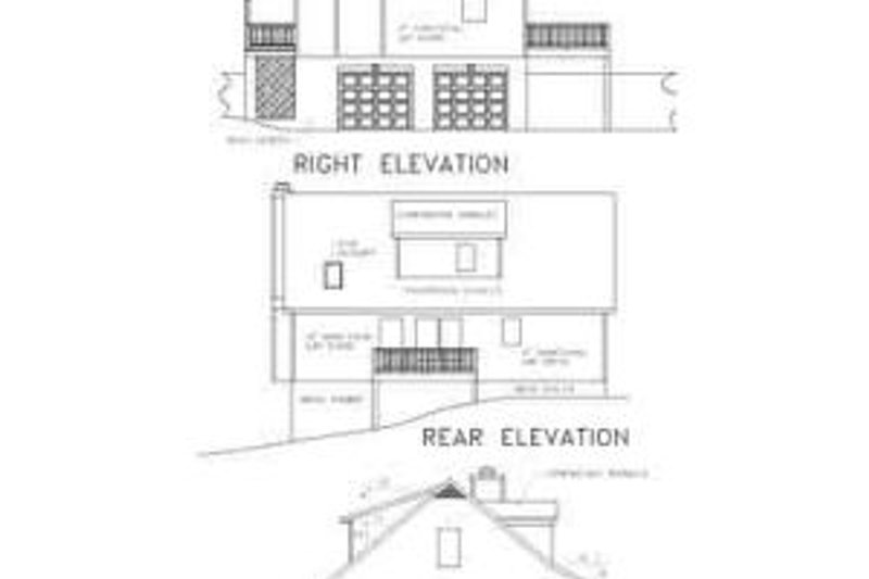 Country Exterior - Rear Elevation Plan #56-132 - Houseplans.com