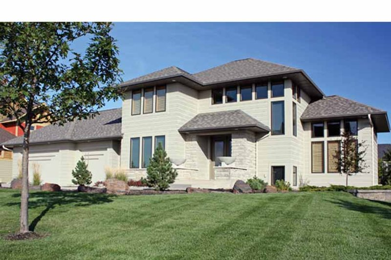 Prairie Exterior - Front Elevation Plan #51-1113 - Houseplans.com