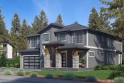 Contemporary Style House Plan - 5 Beds 5 Baths 4310 Sq/Ft Plan #1066-69 Exterior - Other Elevation