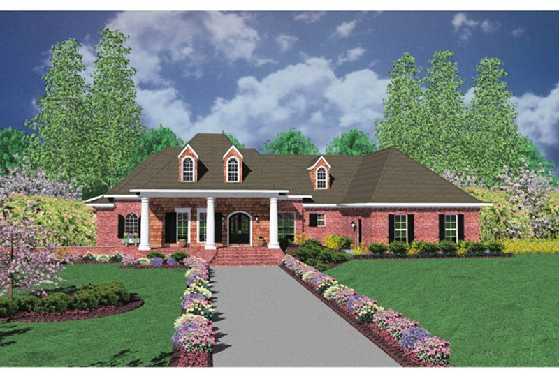 European Exterior - Front Elevation Plan #36-522