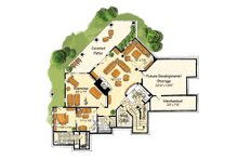 Craftsman Floor Plan - Lower Floor Plan Plan #942-16