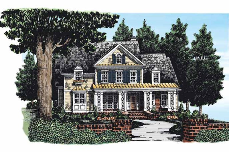 Country Exterior - Front Elevation Plan #927-276