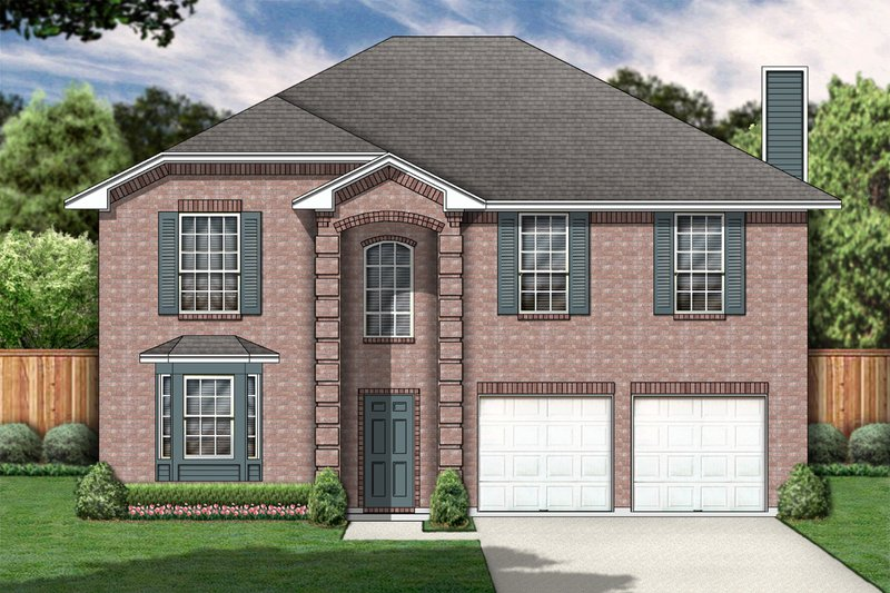 Classical Style House Plan - 4 Beds 2 Baths 2419 Sq/Ft Plan #84-318 Exterior - Front Elevation