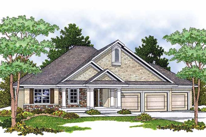 Dream House Plan - Classical Exterior - Front Elevation Plan #70-1376