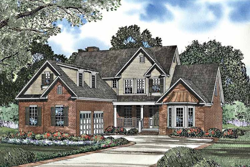 House Plan Design - Traditional Exterior - Front Elevation Plan #17-3164