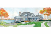 Craftsman Style House Plan - 3 Beds 2.5 Baths 3524 Sq/Ft Plan #928-45 Exterior - Front Elevation