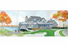 Architectural House Design - Craftsman Exterior - Front Elevation Plan #928-45
