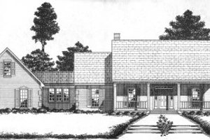 Southern Exterior - Front Elevation Plan #36-301