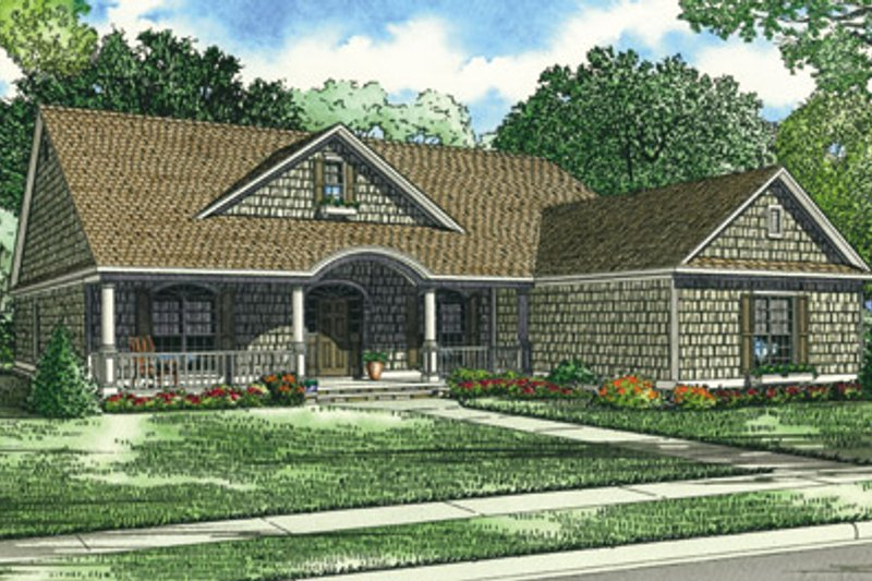 Dream House Plan - Traditional Exterior - Front Elevation Plan #17-420