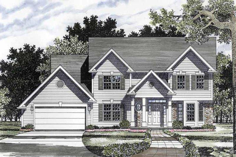 Colonial Exterior - Front Elevation Plan #316-158 - Houseplans.com