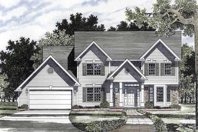 Colonial Exterior - Front Elevation Plan #316-158