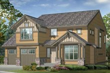 Architectural House Design - Craftsman Exterior - Front Elevation Plan #132-355