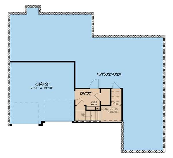 Traditional Floor Plan - Lower Floor Plan Plan #17-3410