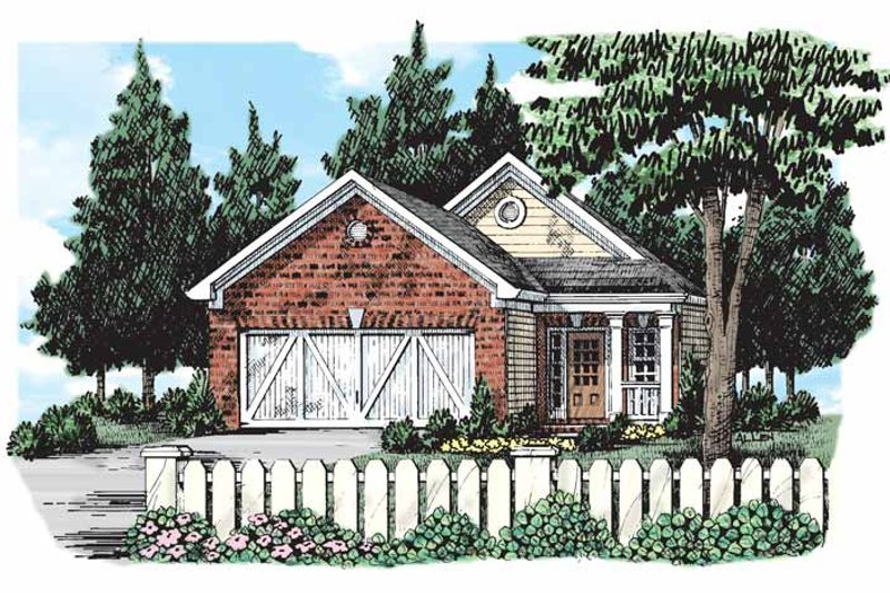 Bungalow Exterior - Front Elevation Plan #927-292
