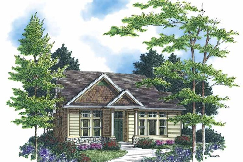 Craftsman Exterior - Front Elevation Plan #48-835