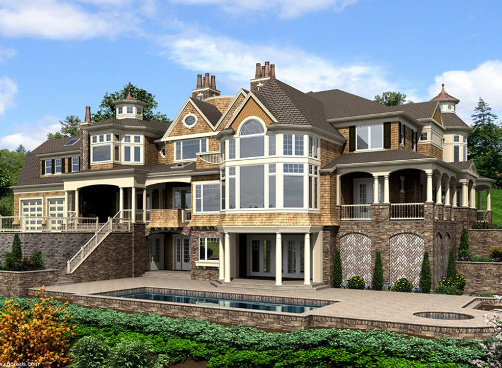 Craftsman style house plan 5 beds 5 baths 11000 sq ft for Weinmaster house plans