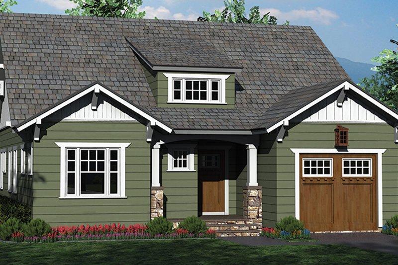 Craftsman Exterior - Front Elevation Plan #453-619 - Houseplans.com