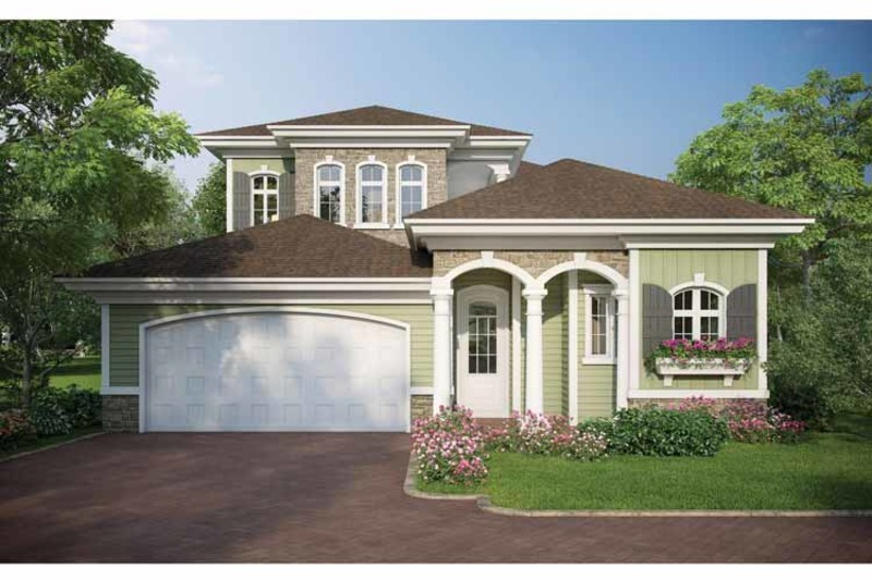Country Exterior - Front Elevation Plan #938-16 - Houseplans.com