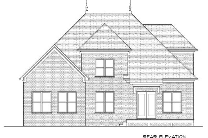 European Exterior - Rear Elevation Plan #413-875 - Houseplans.com